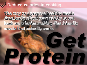 Reduce calories in cooking