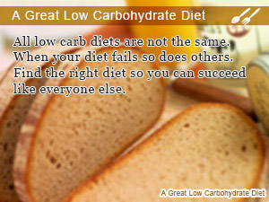 A Great Low Carbohydrate Diet