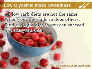 Low Glycemic Index Sweetness