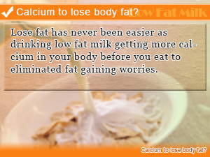 Calcium to lose body fat?