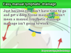 Easy manual lymphatic drainage