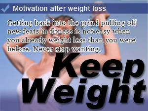 Motivation after weight loss