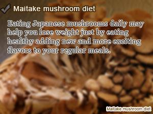 Maitake mushroom diet