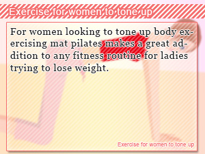 Exercise for women to tone up