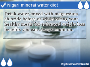 Nigari mineral water diet