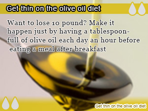 Get thin on the olive oil diet