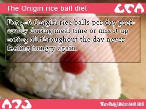 The Onigiri rice ball diet