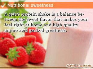 Nutritional sweetness