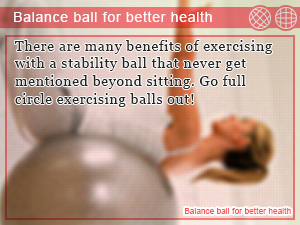 Balance ball for better health