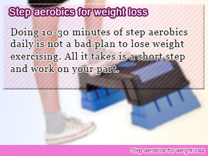 Step aerobics for weight loss