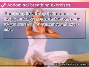Abdominal breathing exercises