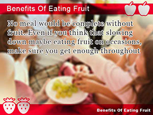 Benefits Of Eating Fruit