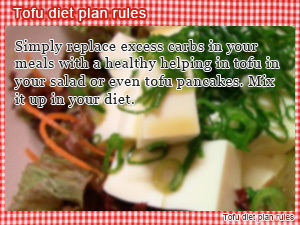Tofu diet plan rules