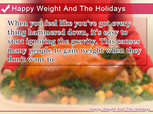 Happy Weight And The Holidays