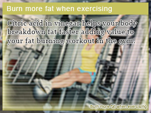 Burn more fat when exercising