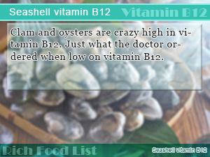 Seashell vitamin B12