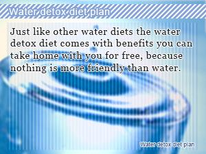Water detox diet plan