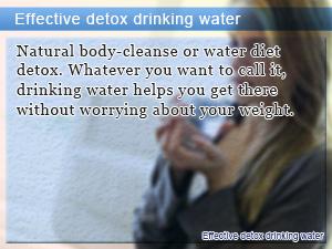 Effective detox drinking water