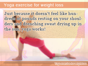 Yoga exercise for weight loss