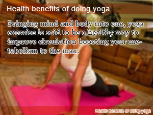 Health benefits of doing yoga