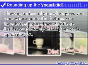 Rounding up the yogurt diet
