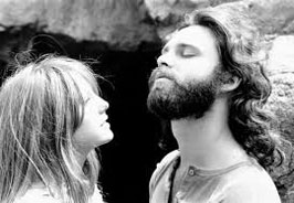 woman checking out beard of jim morrison