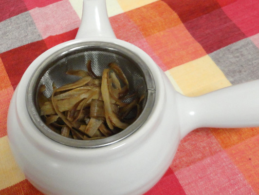leftover burdock tea