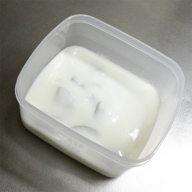 frozen yogurt preparation container