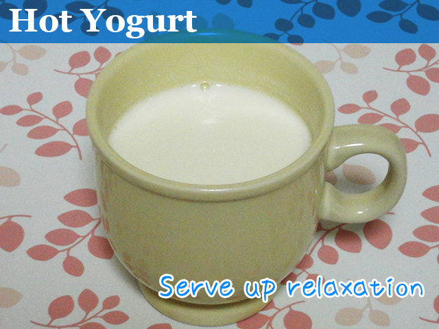 steaming hot cup of hot yogurt