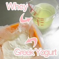 whey and Greek Yogurt