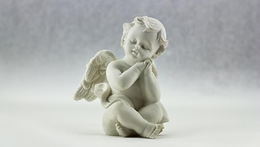 A figurine of a little angel.