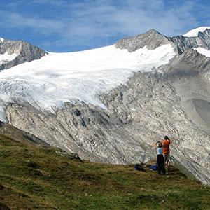 couple on mountain hike