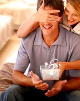 Woman preparing homemade gifts for boyfriend's birthday