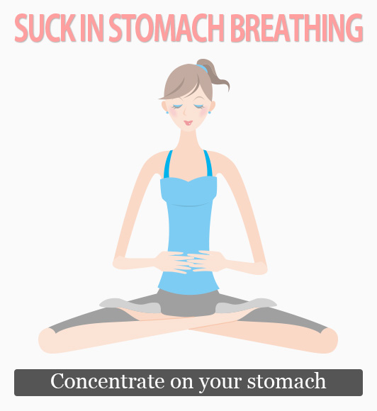SUCK IN STOMACH BREATHING