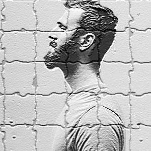 bearded guy in tiles