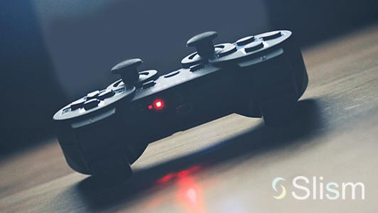 a black gamepad