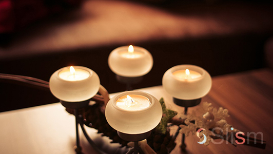 four tea light candles