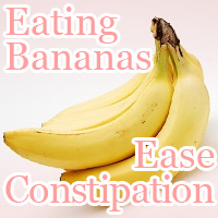 eating bananas ease constipation
