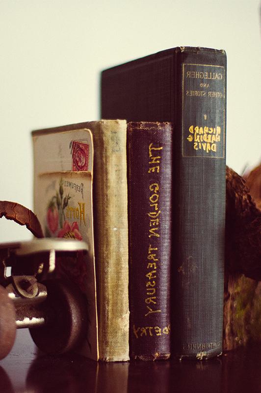 poetry books on a shelf