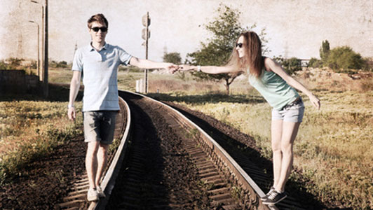 couple on track