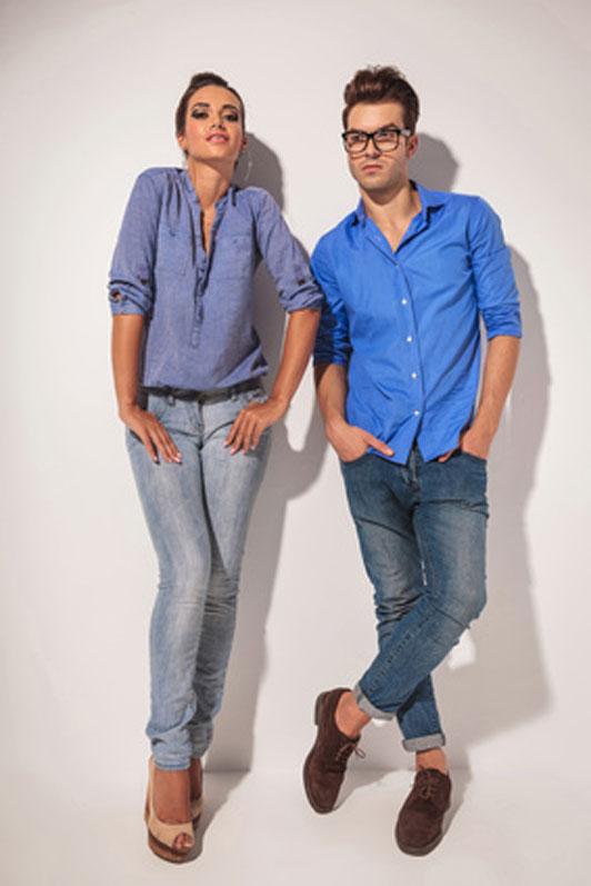 models in pose
