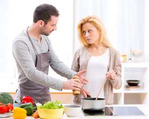 couple having a cooking argument