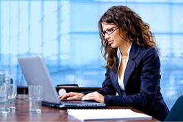 Woman working hard to be noticed