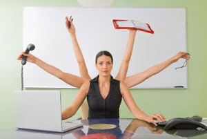 Woman dividing wants