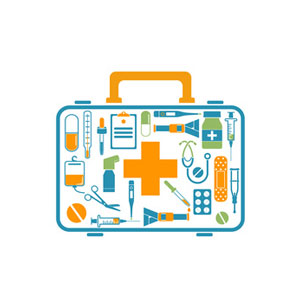 illustration of first aid kit