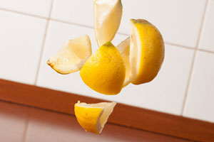 lemon in air