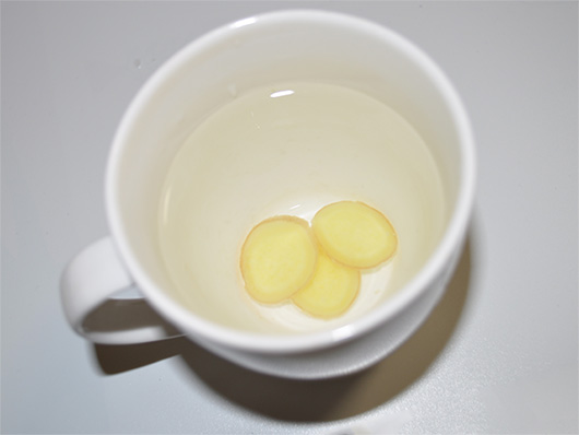 ginger root tea cup three