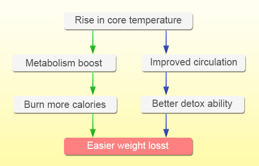 core temperature weight loss