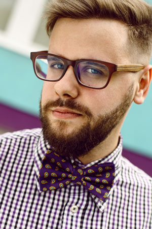 bearded guy wearing glasses