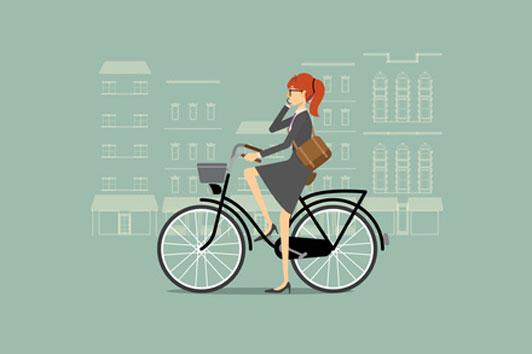 girl wearing glasses on bike